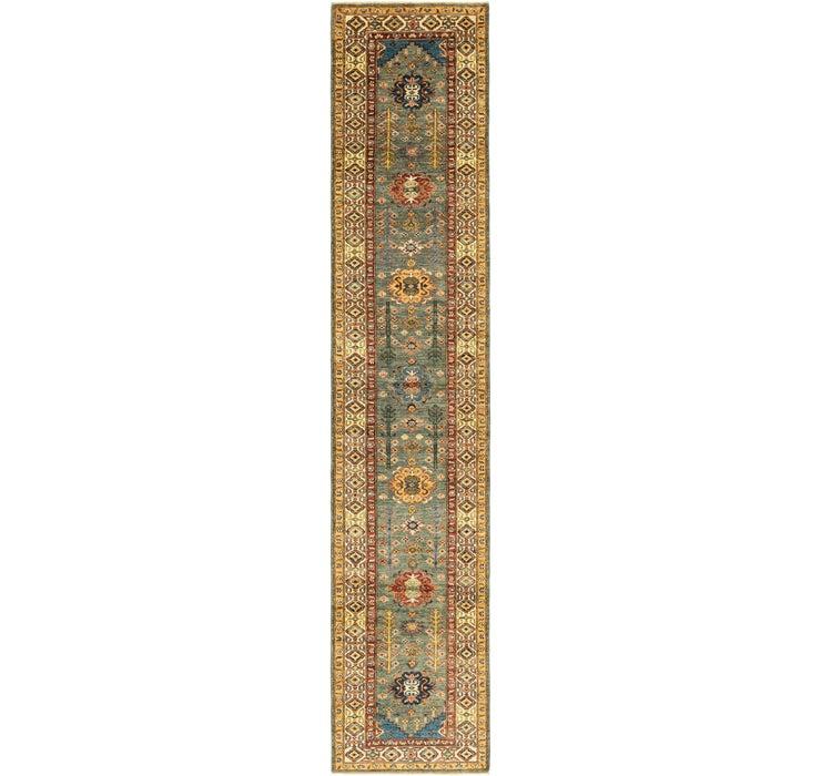 2' 7 x 13' 3 Kazak Oriental Runner Rug