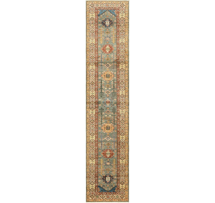 2' 8 x 13' 4 Kazak Oriental Runner Rug