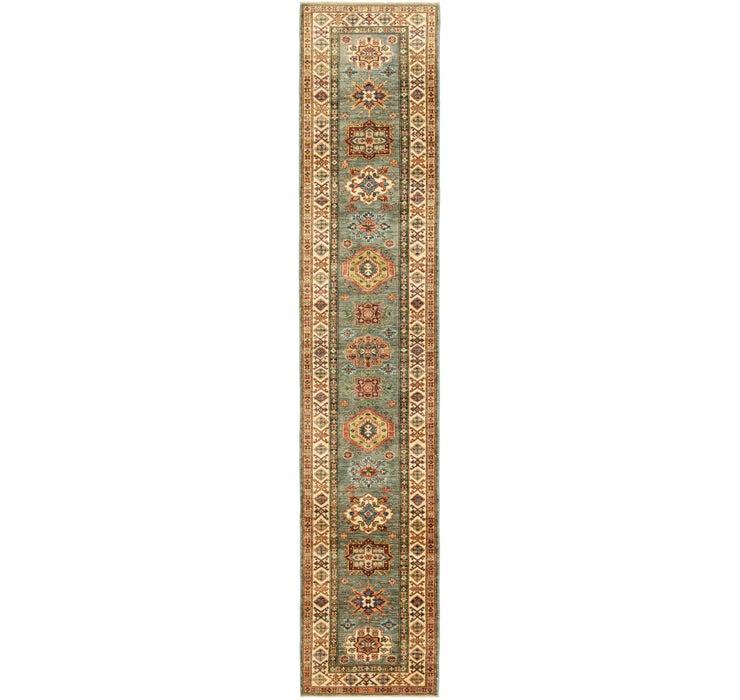 2' 7 x 13' 9 Kazak Oriental Runner Rug
