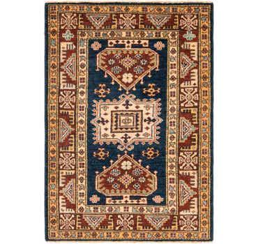 Image of 2' 8 x 3' 10 Kazak Oriental Rug