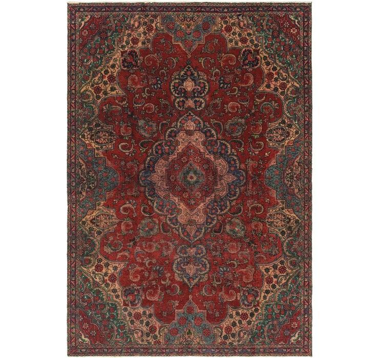 7' 4 x 10' 7 Tabriz Persian Rug