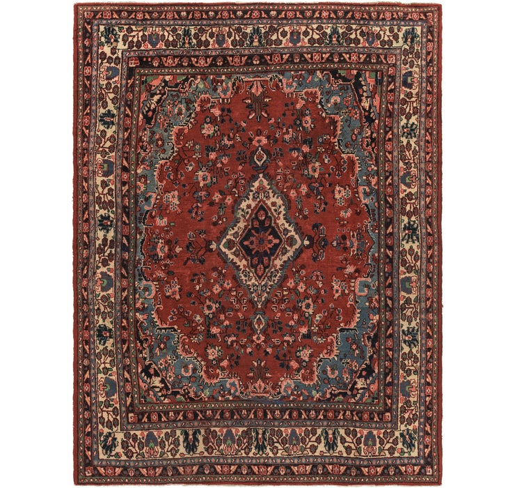 7' 9 x 10' 4 Hamedan Persian Rug