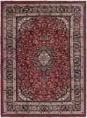 8' 1 x 11' 2 Mashad Persian Rug thumbnail