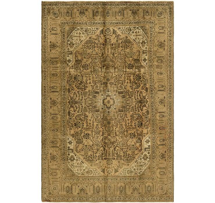 Image of 6' 5 x 9' 11 Tabriz Persian Rug