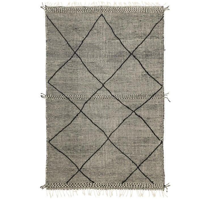 6' 4 x 9' 11 Moroccan Rug