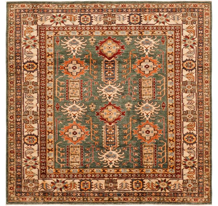 5' 11 x 6' 2 Kazak Oriental Square Rug