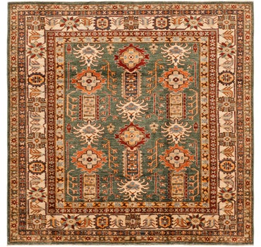5' 11 x 6' 2 Kazak Oriental Square Rug main image