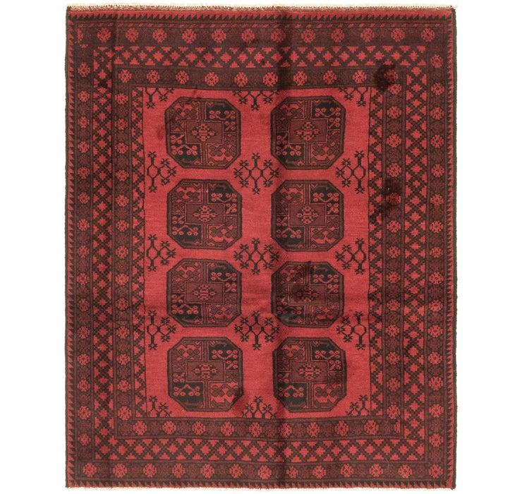 155cm x 193cm Afghan Akhche Rug