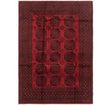 Image of 6' 9 x 9' 7 Afghan Akhche Rug