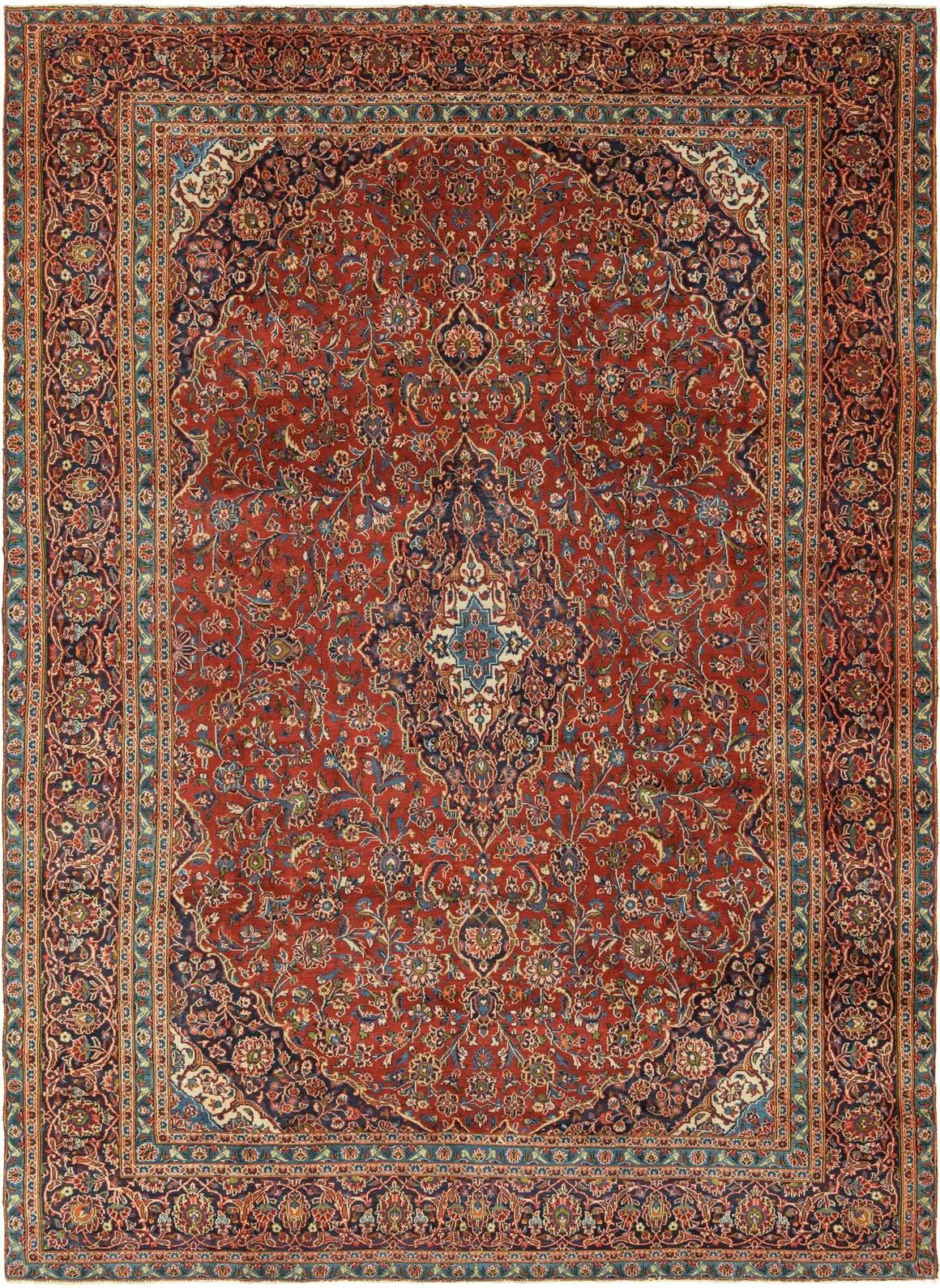 9' x 12' 9 Kashan Persian Rug main image