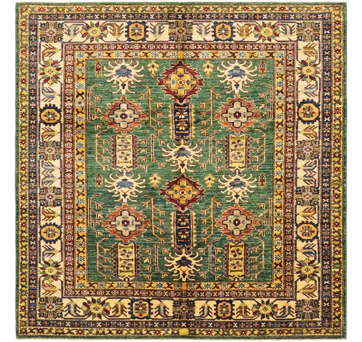 6' x 6' 2 Kazak Oriental Square Rug