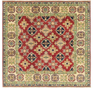 Image of 6' 5 x 6' 7 Kazak Square Rug