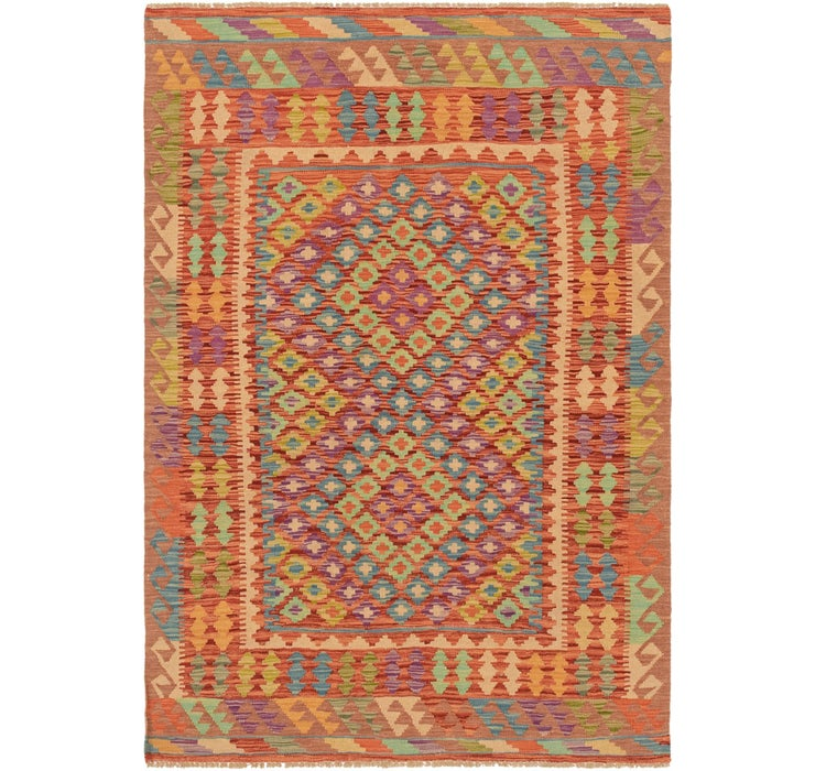 Image of 4' 2 x 6' 1 Kilim Maymana Rug