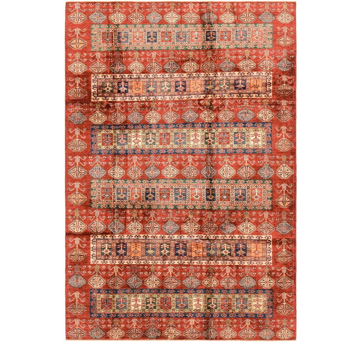 6' 8 x 9' 10 Kazak Oriental Rug