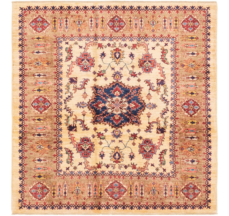 183cm x 185cm Kazak Oriental Square Rug