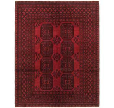 Image of 5' x 6' 4 Afghan Akhche Rug