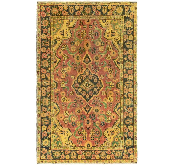 4' x 6' 8 Mashad Persian Rug