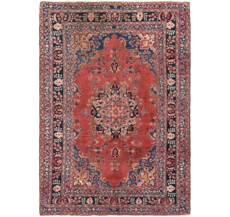 6' 4 x 9' 5 Mashad Persian Rug