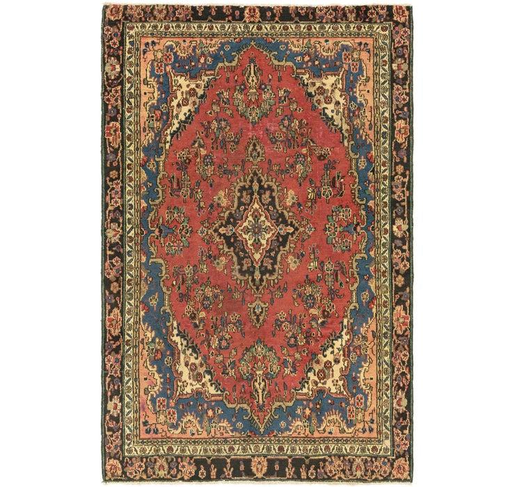 6' 4 x 9' 9 Hamedan Persian Rug