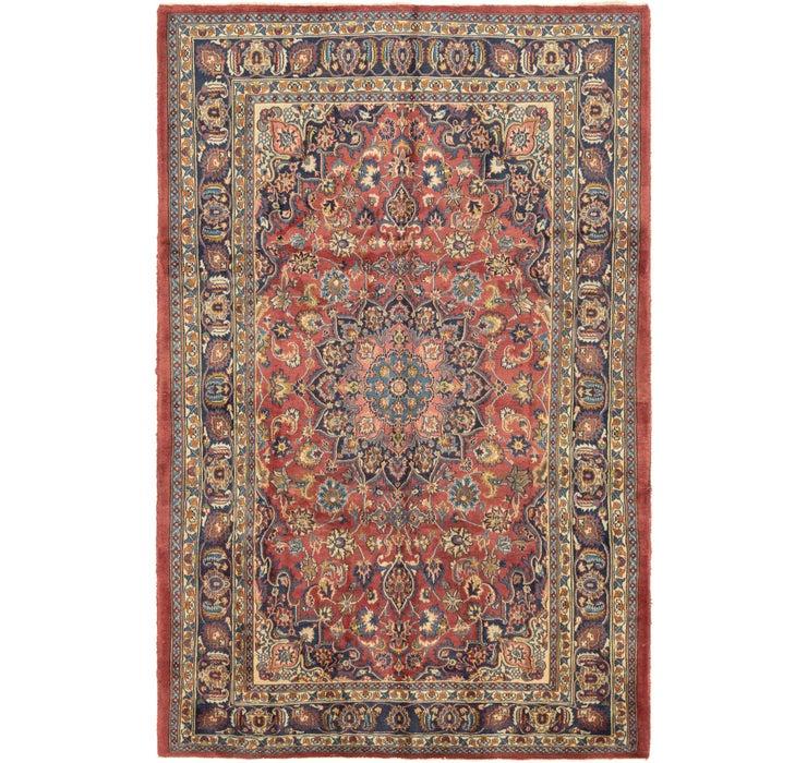 6' 7 x 10' 2 Mashad Persian Rug