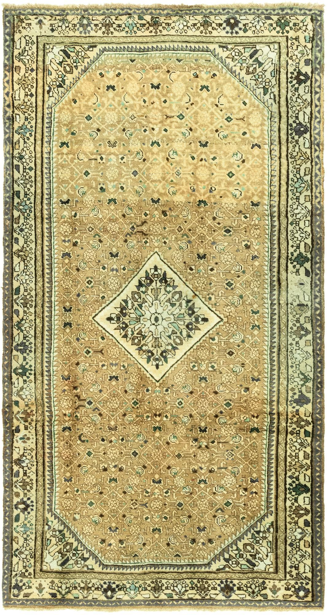 5' 3 x 10' Hossainabad Persian Runner Rug main image
