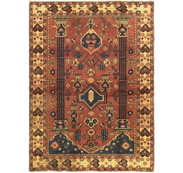 4' 10 x 6' 8 Shiraz Persian Rug