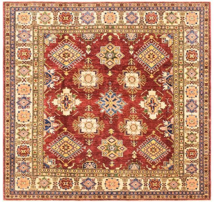 5' 9 x 6' Kazak Oriental Square Rug