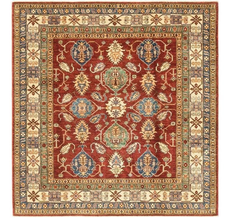 6' x 6' 4 Kazak Oriental Square Rug