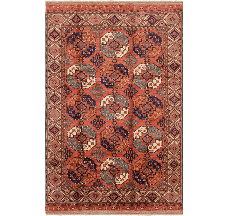 6' 8 x 10' 2 Afghan Ersari Rug