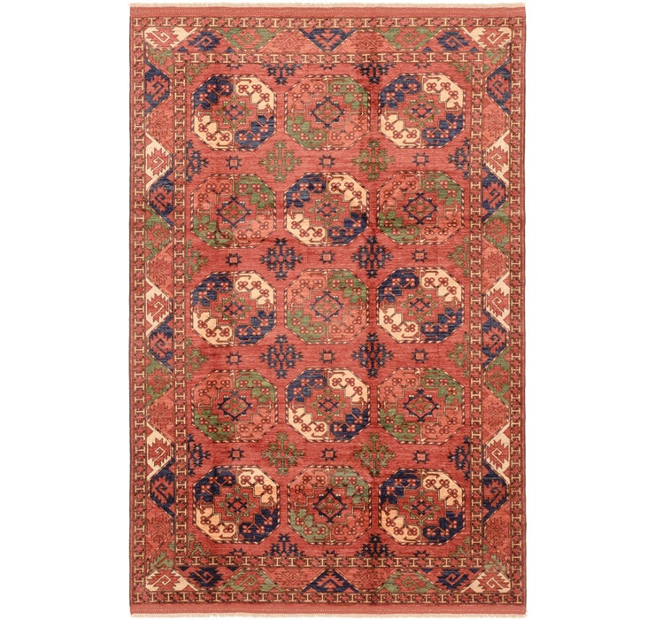 6' 7 x 10' Afghan Ersari Rug