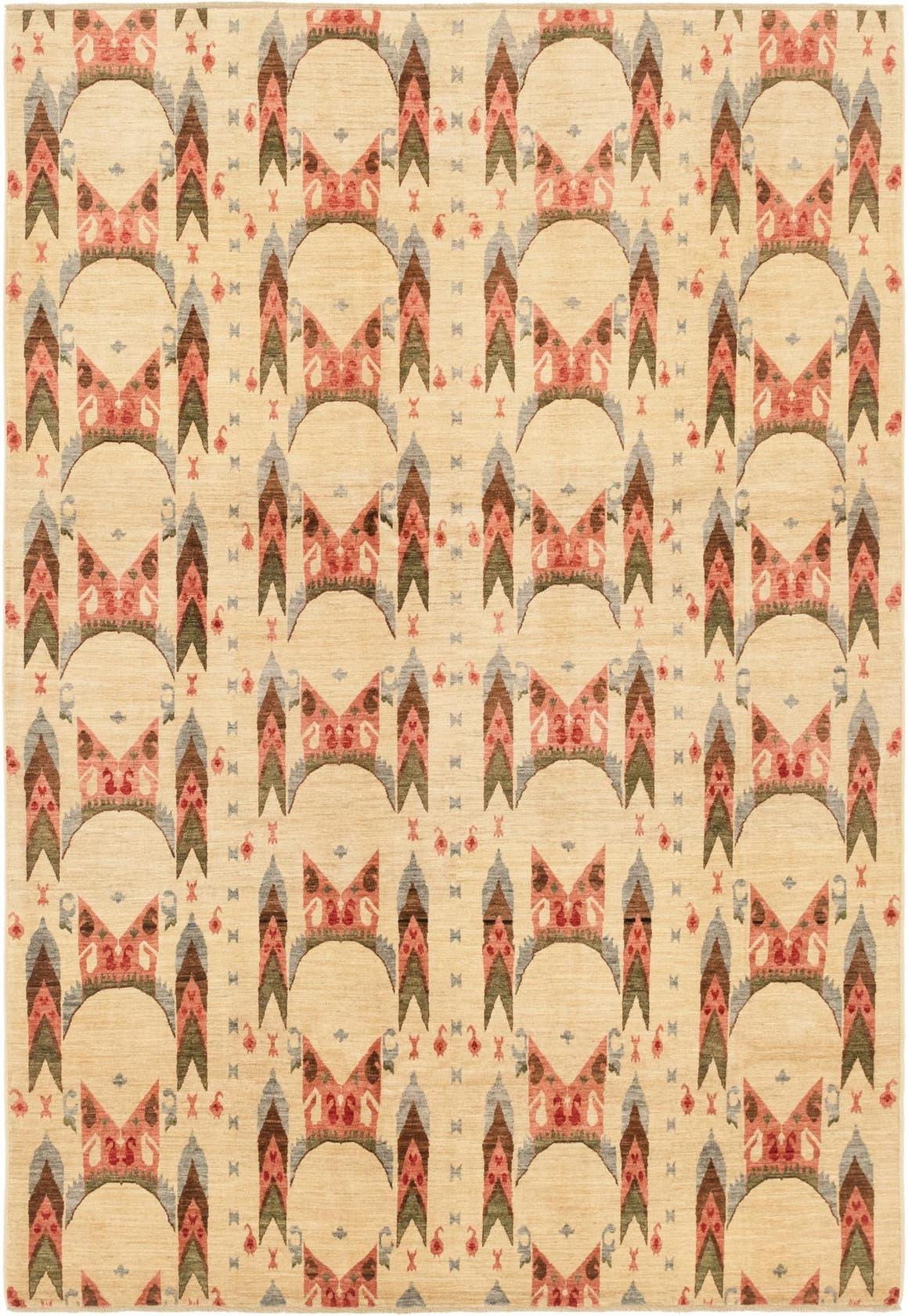 6' 8 x 9' 7 Ikat Oriental Rug main image