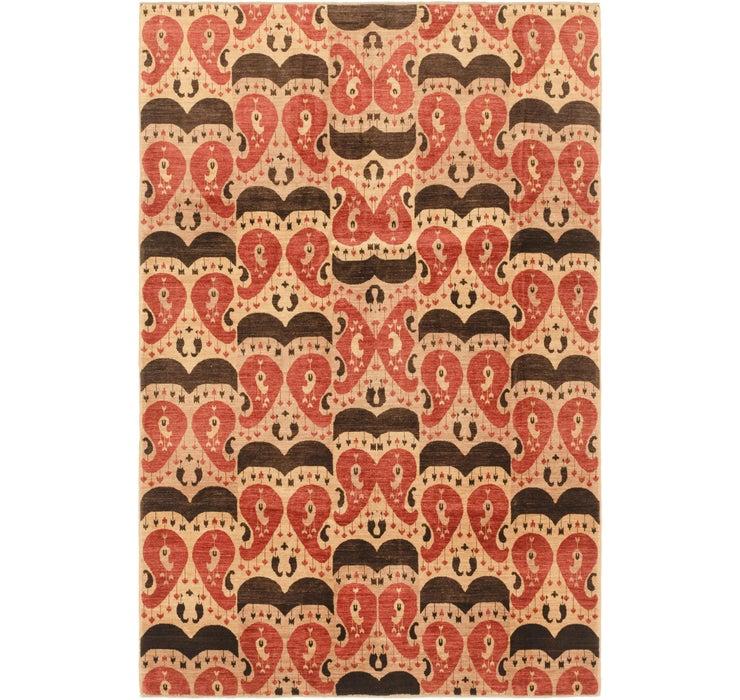 6' 8 x 10' 2 Ikat Oriental Rug