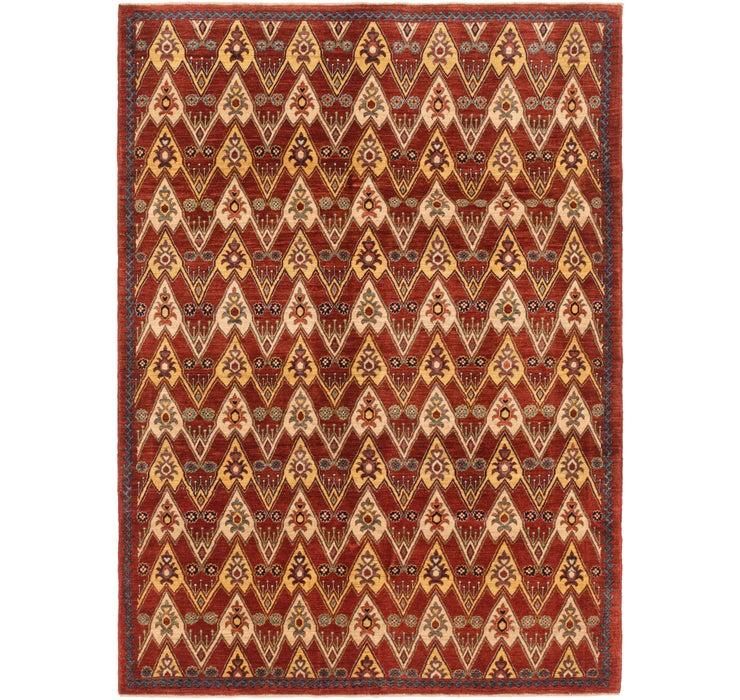 5' 8 x 8' Ikat Oriental Rug