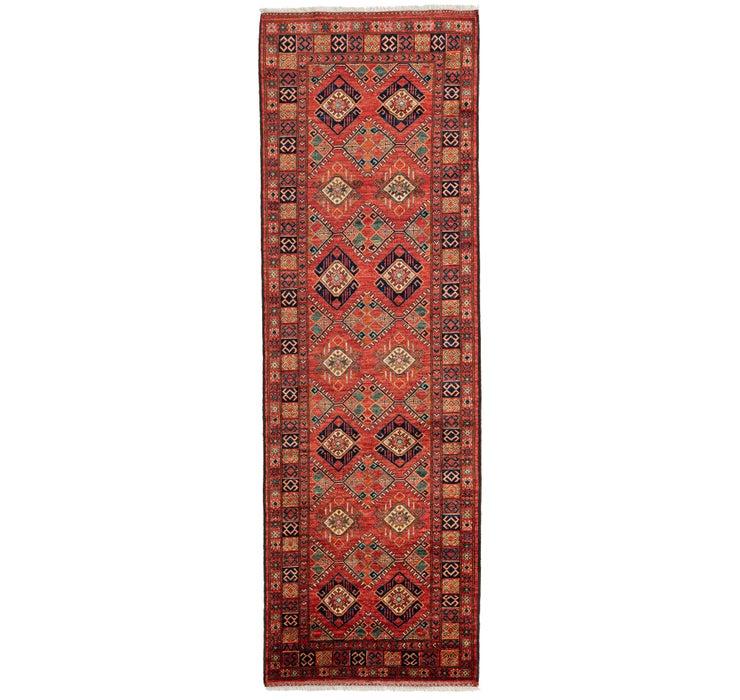 3' 6 x 10' 10 Afghan Ersari Runner Rug