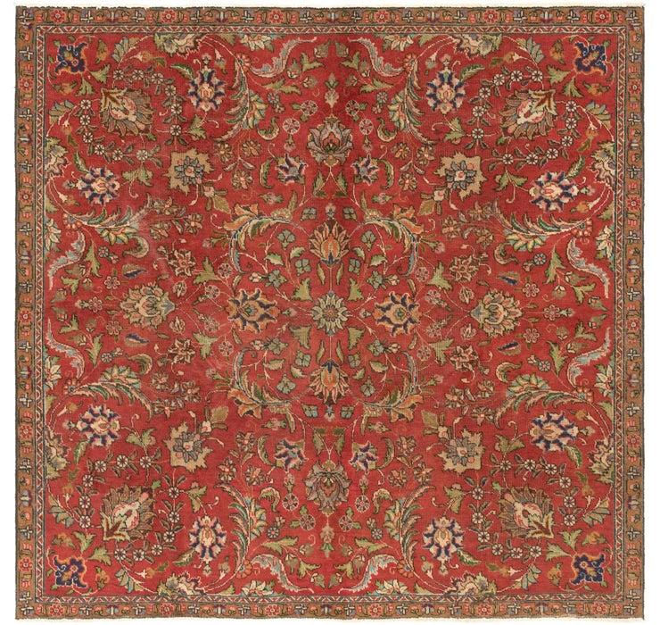 7' 6 x 7' 6 Tabriz Persian Square Rug