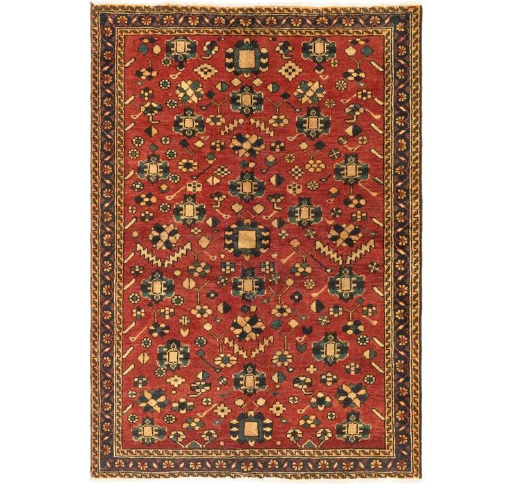 4' 4 x 6' 3 Hamedan Persian Rug