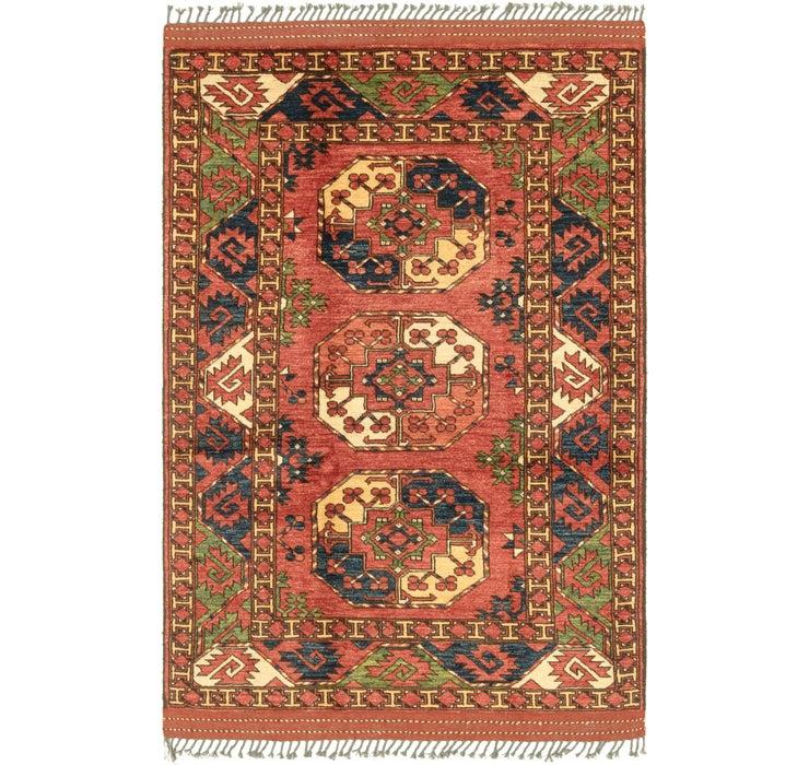 4' x 6' 4 Afghan Ersari Rug