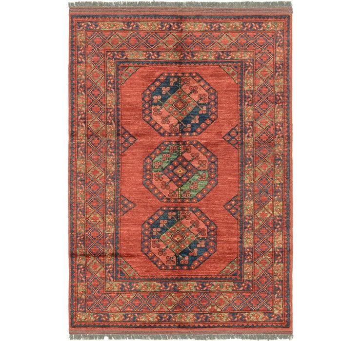 Image of 3' 10 x 6' Afghan Ersari Rug
