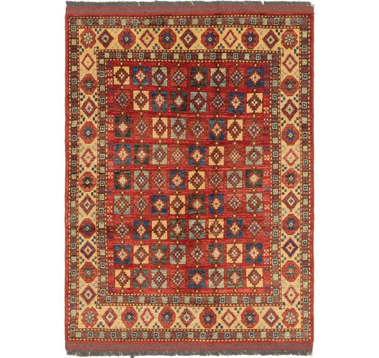 Image of 4' 2 x 5' 11 Afghan Ersari Rug
