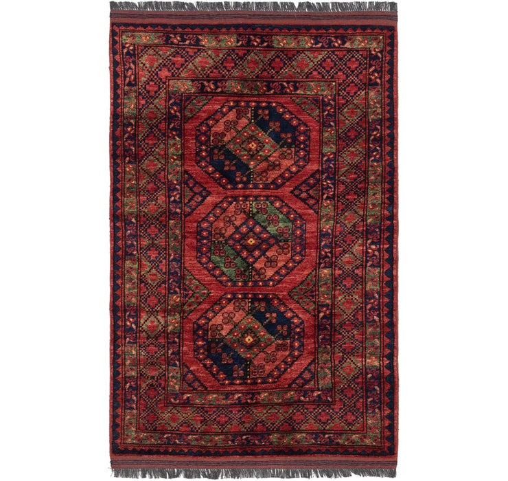 107cm x 142cm Afghan Ersari Rug