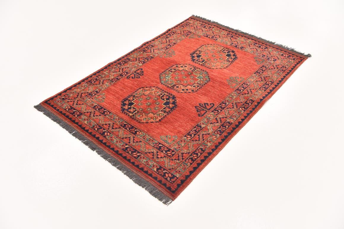 Red  3' 9 x 5' 5 Afghan Ersari