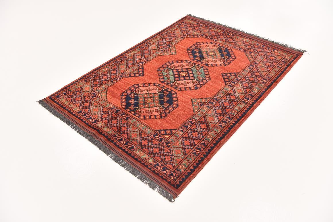 Red  4' 1 x 5' 9 Afghan Ersari