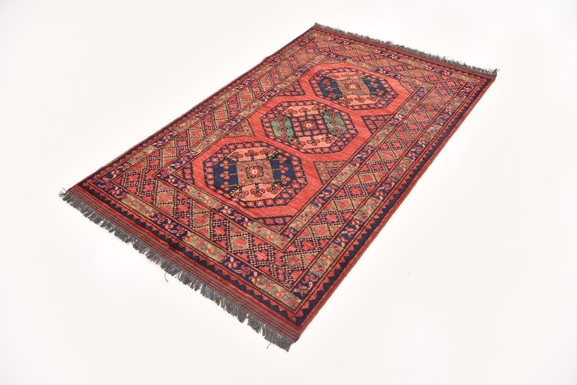Red  3' 8 x 5' 11 Afghan Ersari
