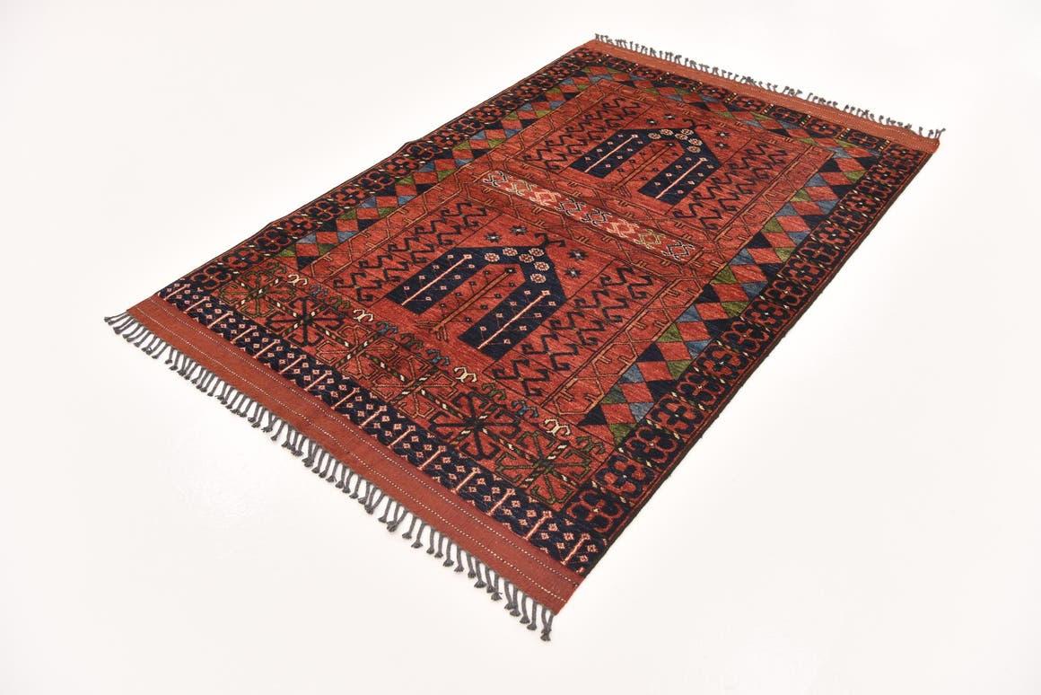 Red  4' 1 x 6' 3 Afghan Ersari