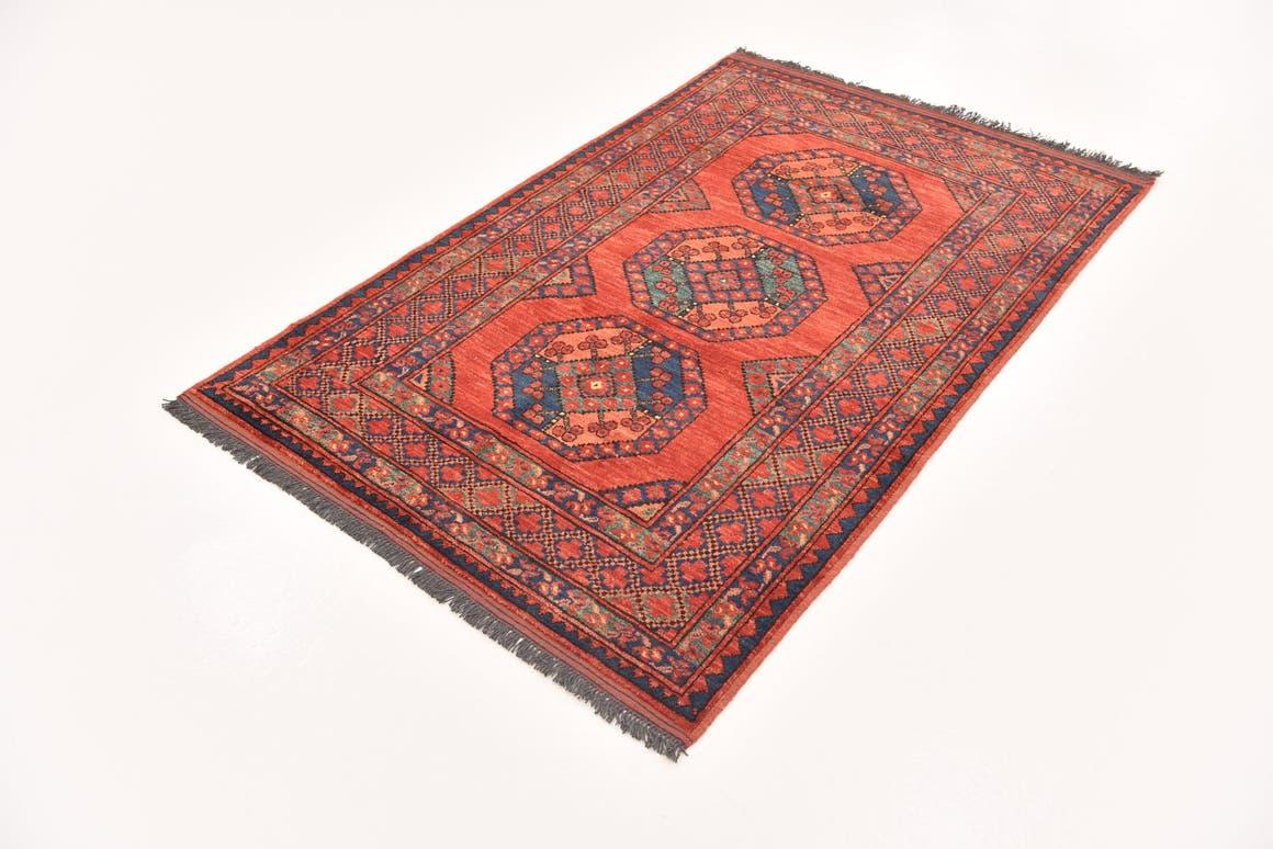 Red  3' 9 x 5' 10 Afghan Ersari
