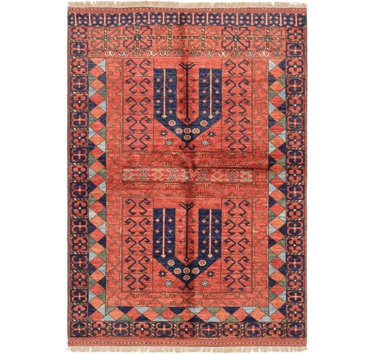 4' 1 x 5' 9 Afghan Ersari Rug