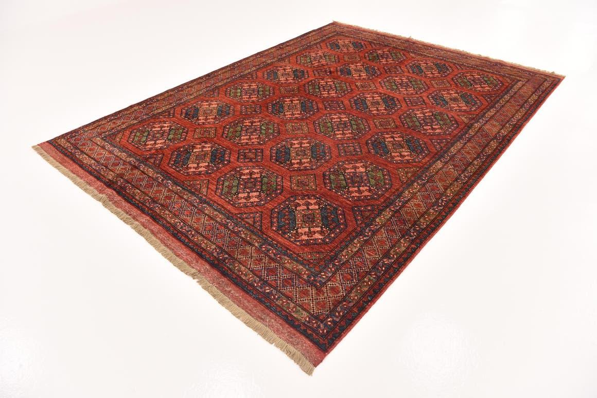 Red  7' x 9' 8 Afghan Ersari