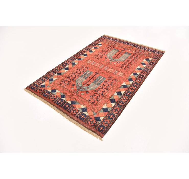 4' 1 x 6' 2 Afghan Ersari Rug