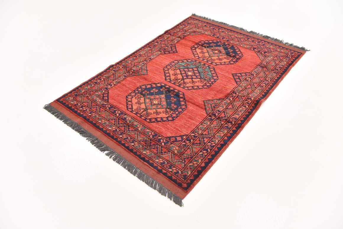 Red  3' 9 x 5' 6 Afghan Ersari
