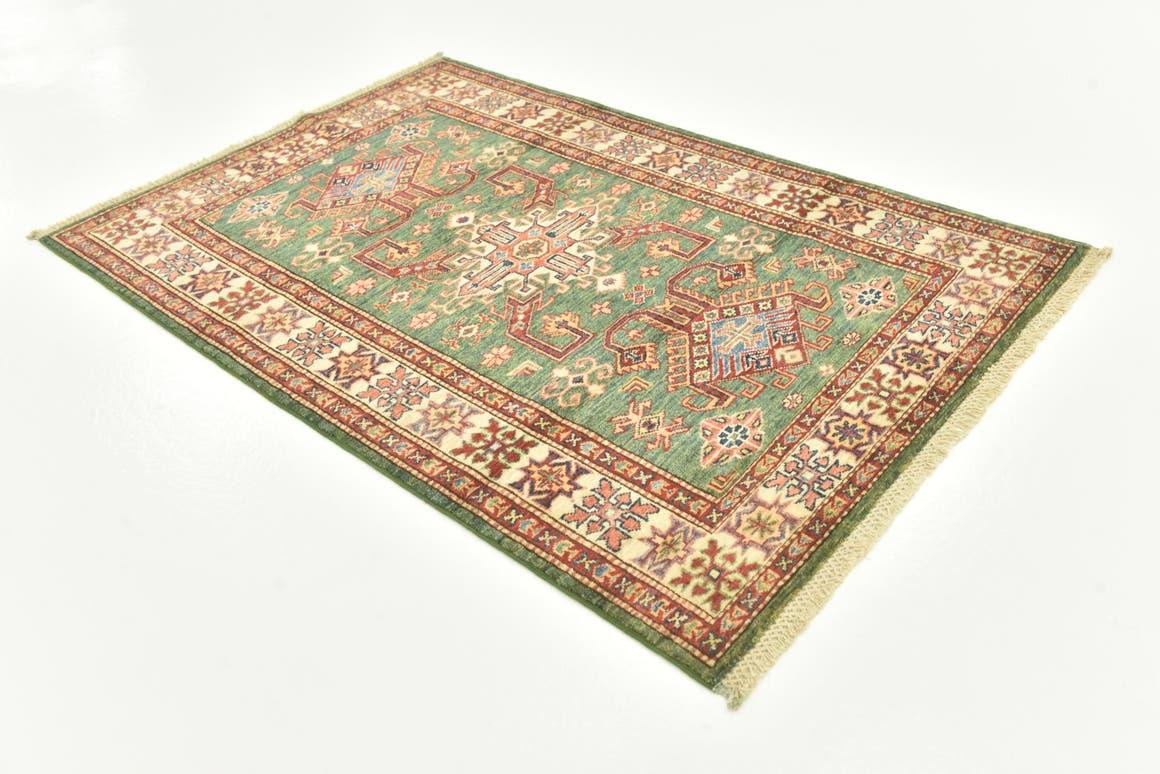 Green  3' 4 x 5' Kazak Oriental